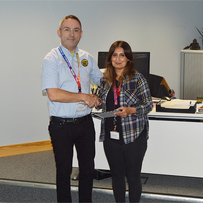 Well Done Kully Kaur on 15 Years Service at SP